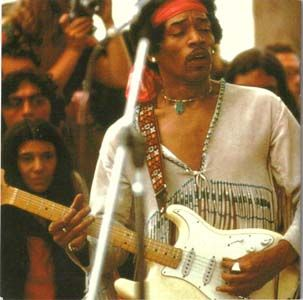 Jimi Hendrix at Woodstock, 1969