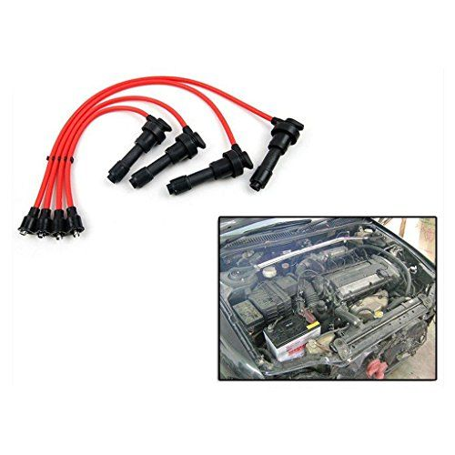 Best price on Ignition Spark Plug Wire Cable Set Mitsubishi Lancer CC 4G92 4G93 Dohc 1.8L / 1.6L //   See details here: http://bestmotorbikereviews.com/product/ignition-spark-plug-wire-cable-set-mitsubishi-lancer-cc-4g92-4g93-dohc-1-8l-1-6l/ //  Truly a b