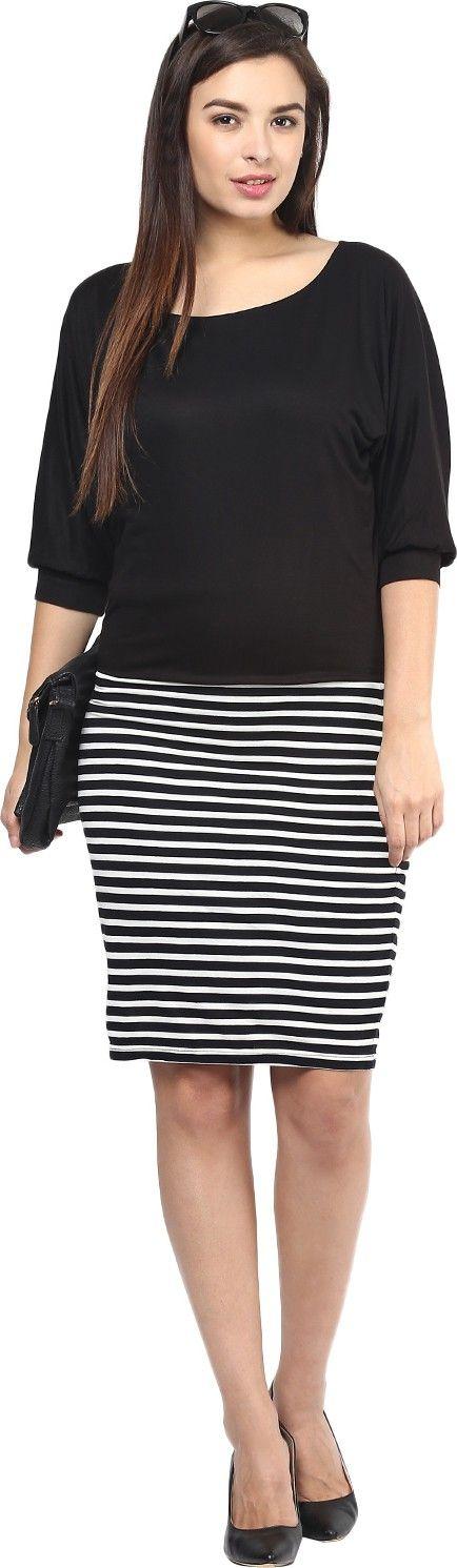 SWAGG Women's Wrap Black Dress