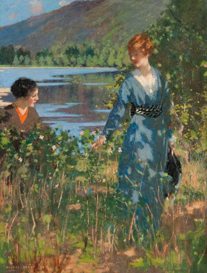 The Athenaeum - Ladies by a Loch (George Henry, R.A., R.S.A., R.S.W. - No dates listed)