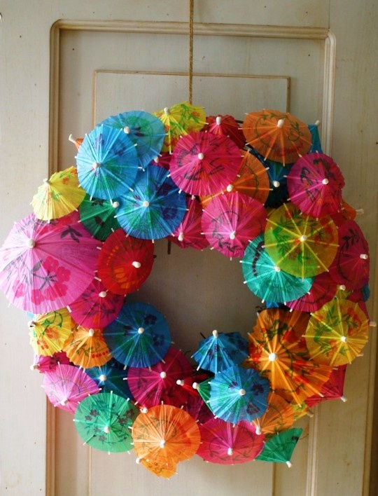 Wreath of parasols