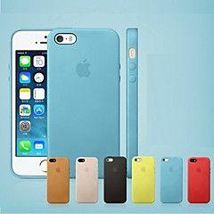 caso capa original de couro genuíno de volta para o iphone 7 7 mais 6s 6 mais se 5s 5