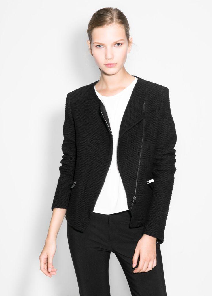MANGO - Textured cotton-blend jacket #FW14 #NEW
