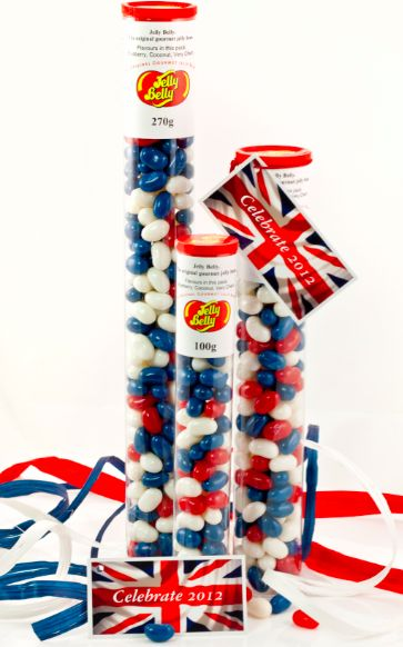 With the Olympics and a Royal Jubilee these new British flag Jelly Belly beans are a fab idea. Flavours are coconut, blueberry and cherry - so they should be good!Fab Ideas, British Flags, Belly Vending, Jelly Belly, Royal Jubilee, Flags Jelly, Foodies News, Jelly Beans, Belly Beans