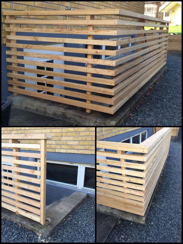 Nytt staket till en källaringång