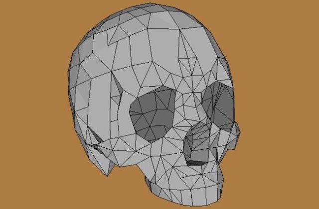 Human Skull Paper Model - by Saeid72 - via Pepakura Gallery    This Human Skull paper model was created by designer Saeid72