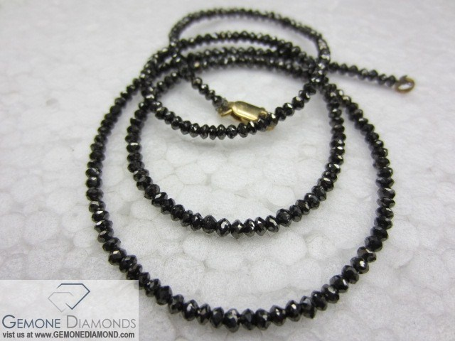 NATURAL DIAMONDS FACETED BEAD NECKLACE  Size -  12 carat to 100 carats Length: 12 inch to 24 inch Color-   jet Black color & Fancy color Clarity - Opaque Shape- Round Brilliant Cut Price: USD400 USD 800 per strand ANY SIZE NATURAL DIAMOND BEADS NECKLACE AS PER YOUR CUSTOM REQUIREMENT.  WE ARE PAYPAL WORLDSELLER, YOU CAN CONTACT US FOR PURCHASE OR BULK REQUIREMENTS