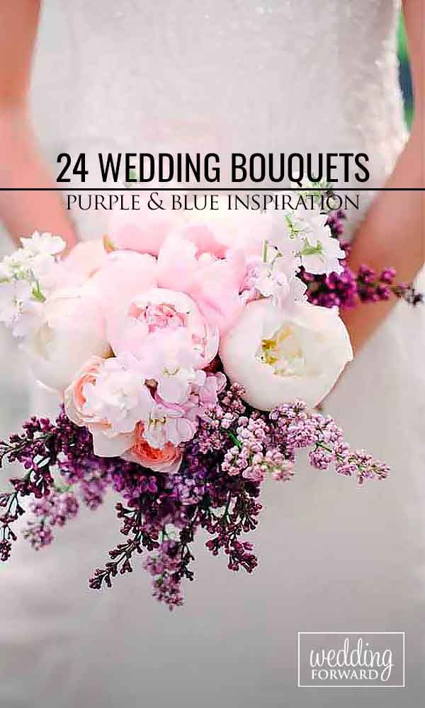 30 Purple & Blue Wedding Bouquets