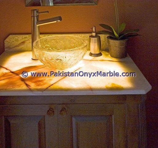 backlit onyx bathroom washroom backlit onyx sinks backlit onyx stone  backlit onyx wall detail Backlit Onyx Countertops Home Design Photos  house,arc