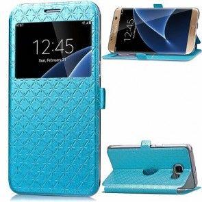 Husa Samsung Galaxy S7 Edge, Inchidere Magnetica, Ultraslim, Culoare Baby Blue