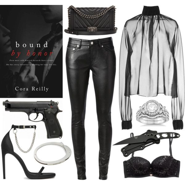 Bound by Honor by Cora Reilly by c00ksie on Polyvore featuring Wes Gordon, Yves Saint Laurent, Gossard, Chanel, Allurez and Helmut Lang
