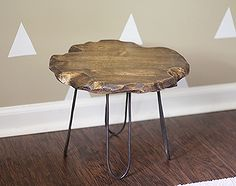 small rustic stool with diy hairpin style legs no welding required, diy, painted furniture, repurposing upcycling, rustic furniture