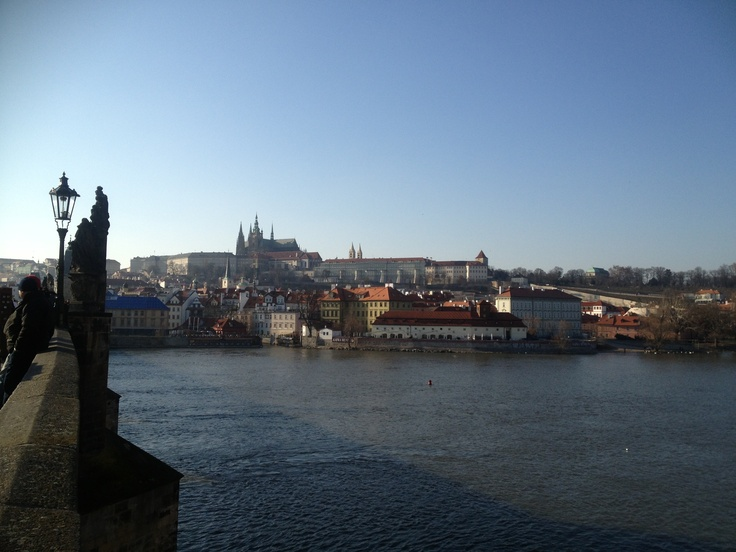 View from the Charles Bridge on Prague Castle