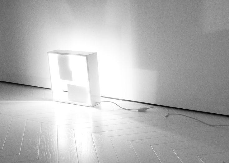 Gio Ponti Fato Artemide lamp on Xilo White Oak parquet | design by a3lier, Fabrizio Fobert Architect