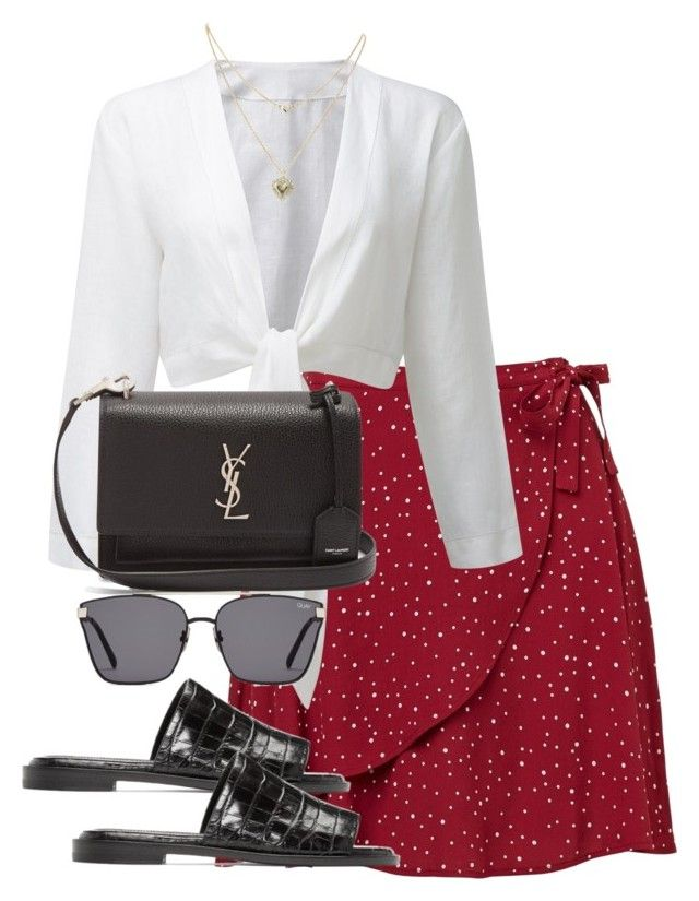 """Untitled #4466"" by theeuropeancloset ❤ liked on Polyvore featuring Lipsy, E L L E R Y and Yves Saint Laurent"