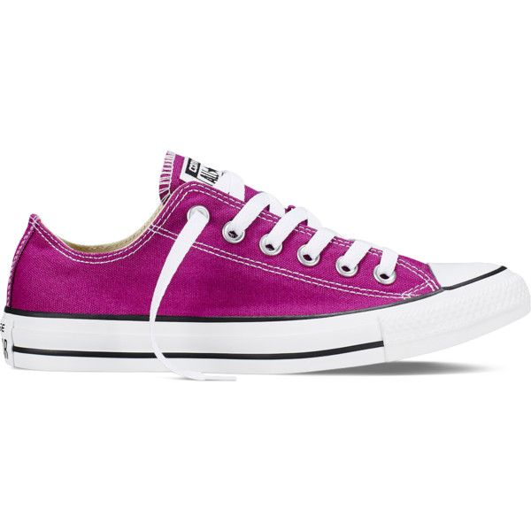 Converse Chuck Taylor All Star Fresh Colors – pink sapphire Sneakers ($55) ❤ liked on Polyvore featuring shoes, sneakers, converse, pink sapphire, star sneakers, converse trainers, low tops, rubber sole shoes and converse footwear
