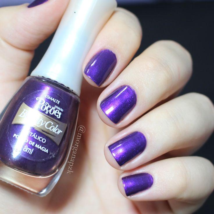 "Esmalte ""Poção Mágica"" da Beauty Color | Unhas roxas | Purple Nails | Instagram by @morganapzk"