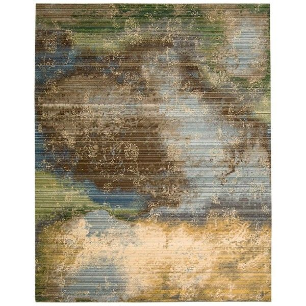 Nourison Rhapsody Collection Area Rug, 8'6 x 11'6 (15,110 CNY) ❤ liked on Polyvore featuring home, rugs, nourison, nourison rugs and nourison area rugs
