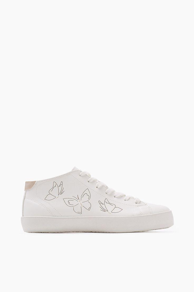 Esprit / High Top-Sneaker in Leder-Optik