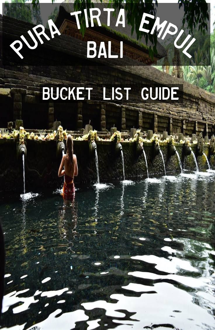 Pura Tirta Empul is a water temple located in the village of Manukayu.