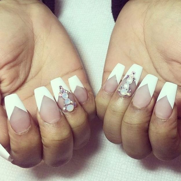 17 Cute French Nail Designs To Celebrate Bastille Day - Best 10+ French Tip Nails Ideas On Pinterest French Nails