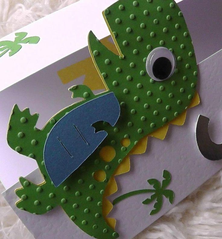 Cricut Dinosaur Card Cards Children Pinterest