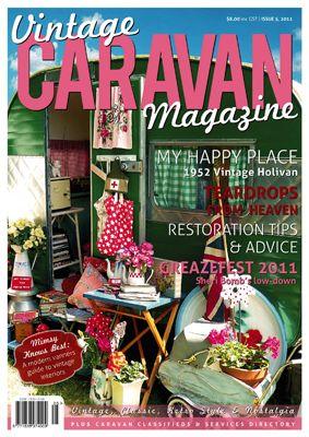 vintage caravan magazine: Vintage Trailers, Houses Revival, Vintage Caravan, Vintage Wardrobe, Tins Cans, Dreams Cars, Caravan Magazines, Happy Campers, Vintage Campers