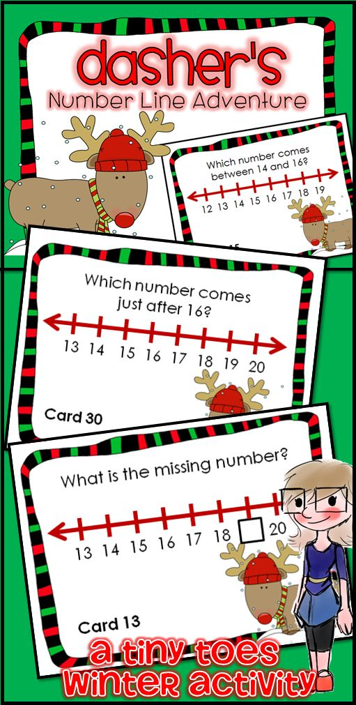 Looking for a fun way to review Common Core Math standards for Kinder and 1st Grade? These Winter themed Reindeer Number Line Task Cards are an excellent review. I have used these in centers, as task cards, as partner work, a scoot game or taped around the room for a room search, find & answer. I love that this is fun not only at Christmas, but all winter long!