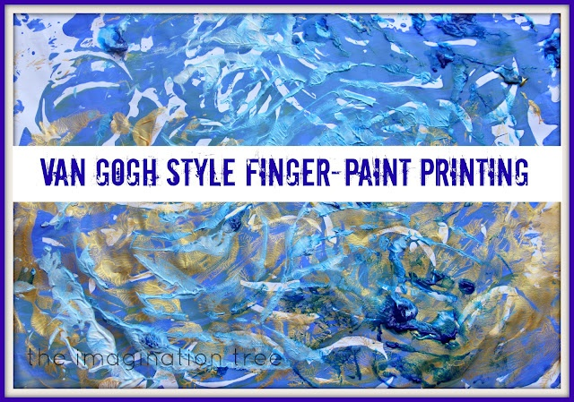 AMAZING Van Gogh Starry Night project suitable for toddlers and preschoolers!