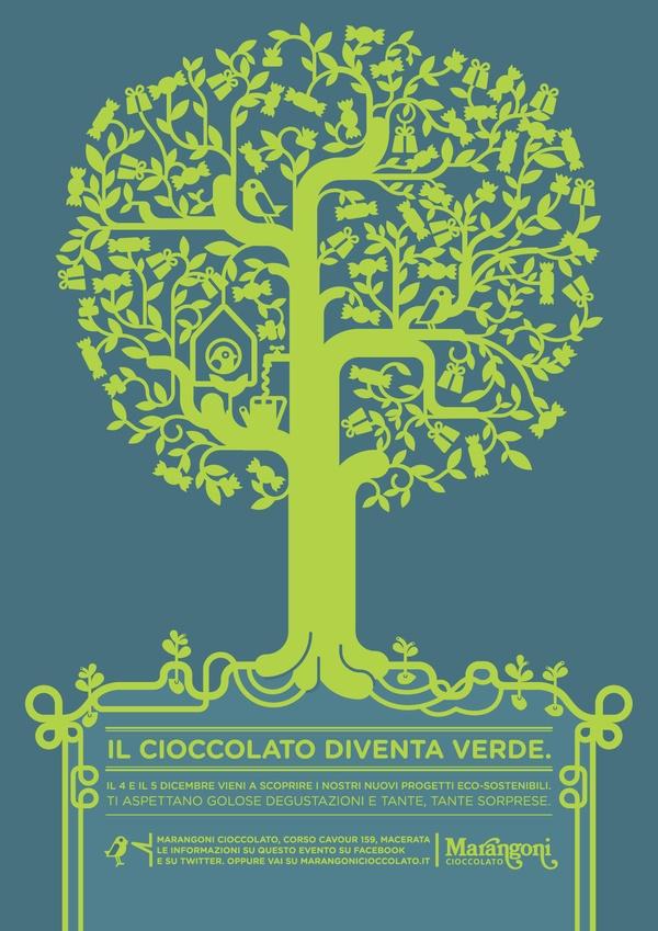 Il cioccolato diventa verde. by Valentina Marchionni, via Behance