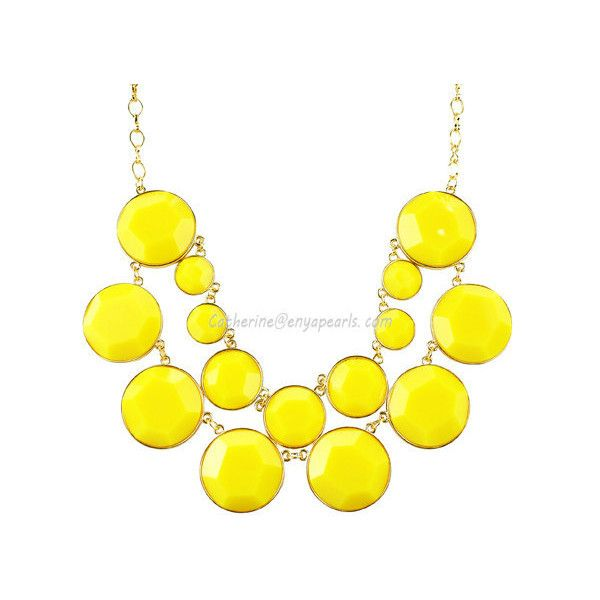 Yellow Bubble Jewelry, Yellow Bubble Necklace, Cluster Necklace,... ($14) ❤ liked on Polyvore