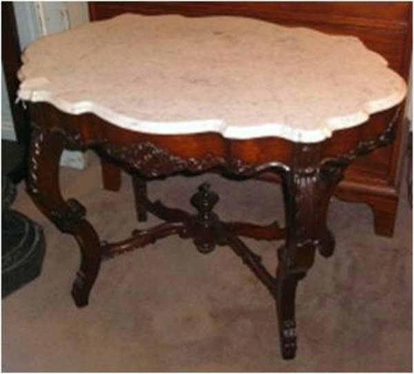 Marble Coffee Table Furniture Village: Victorian Marble Top Table, Brookline Village Antiques