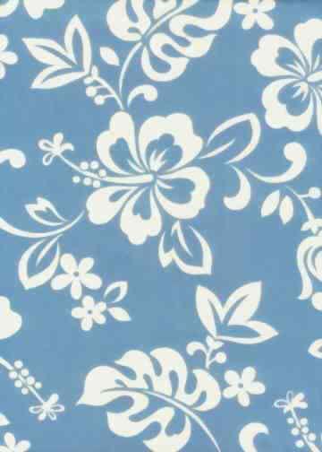 20wahi Tropical Hawaiian plumeria & hibiscus- on cotton poplin fabric apparel cotton Hawaiian vintage style fabric.  More fabrics at: BarkclothHawaii.com