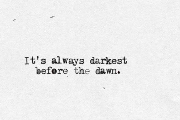 Aquele texto maroto sobre como devemos resistir aos tempos difíceis. Porque eles passam. Quando menos esperamos, estamos bem de novo.