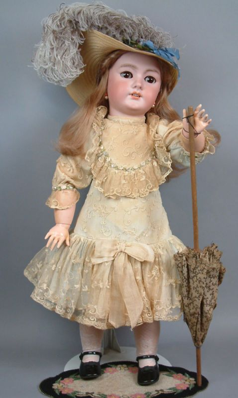 "OUTSTANDING 30"" CHUNKY FRENCH DEP JUMEAU Antique Bebe DOLL-Gorgeous in every WAY"
