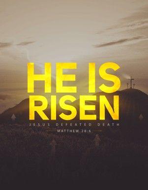 He Is Risen Christian Church Flyer