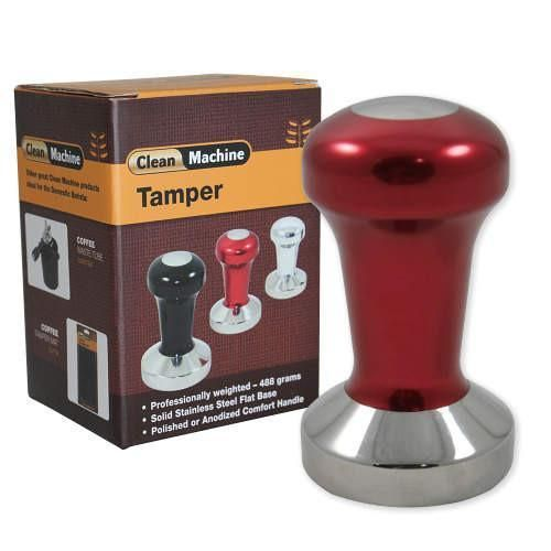 At approx 500g this ProTamp series tamper offers a professionally weighted solid stainless steel flat base with an anodized 6061 aluminium handle. The base on all ProTamps is a heavy 304 stainless steel.