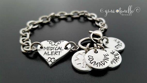 ICYMI: Medical ID Bracelet, Medical Alert Bracelet, Personalized Medical Bracelet, Custom Emergency Bracelet, Allergy… www.ginatonello.com