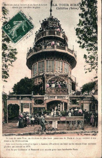Cartes Postales Anciennes CHATILLON 92 La Tour Biret