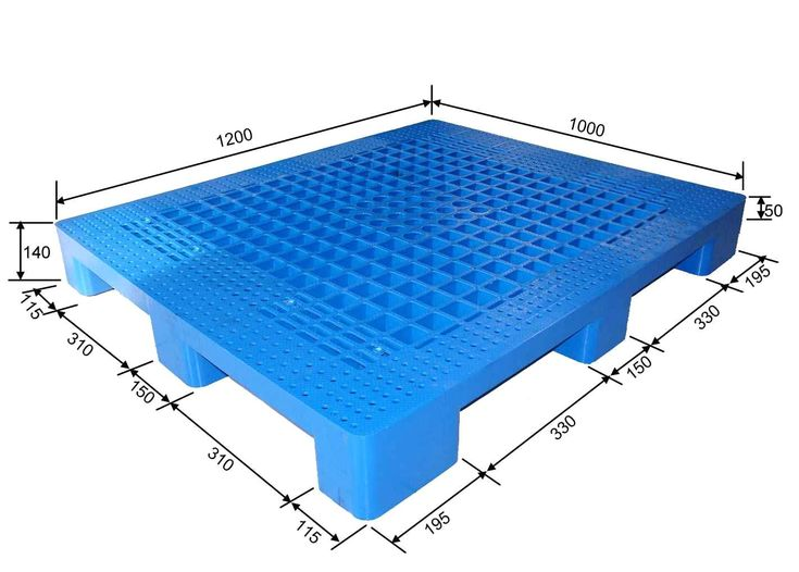 Double side plastic pallet.