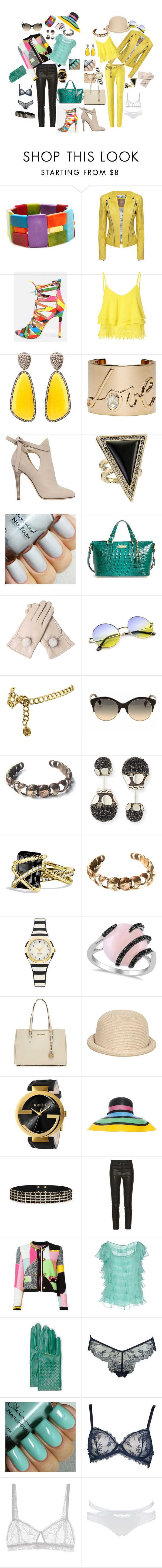 """""""29"""" by kuropirate on Polyvore featuring Encanto, Glamorous, Christina Debs, Lanvin, Jimmy Choo, House of Harlow 1960, Brahmin, Chanel, Emilio Pucci and Mary Gallagher"""