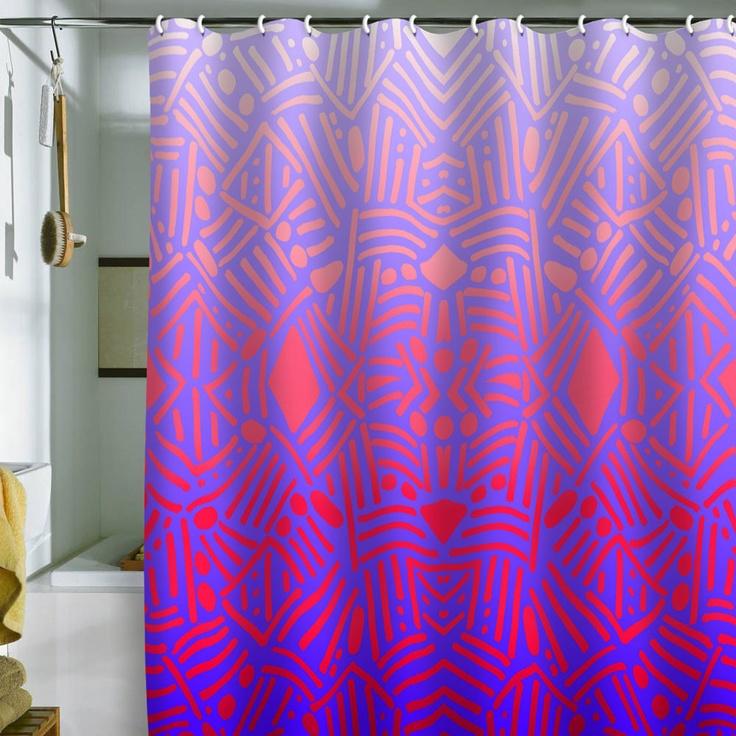 Jacqueline Maldonado Bali Ombre Shower Curtain