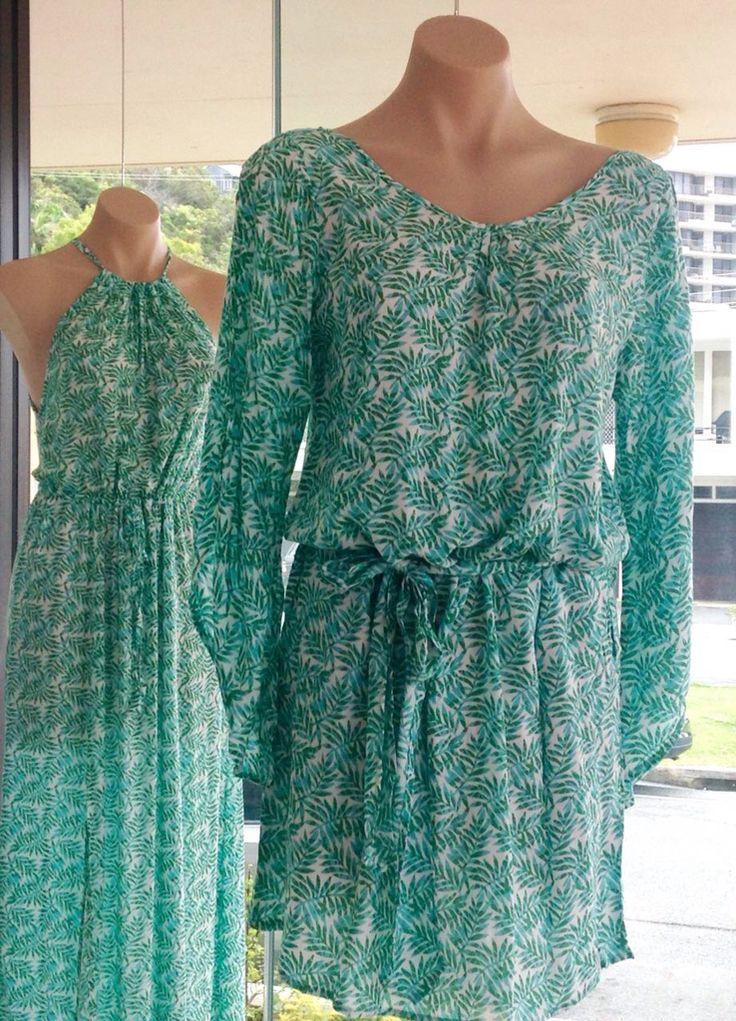 Shades of green #beachwear