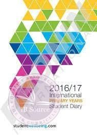 2017/2018 PYP Student Diary / Planner