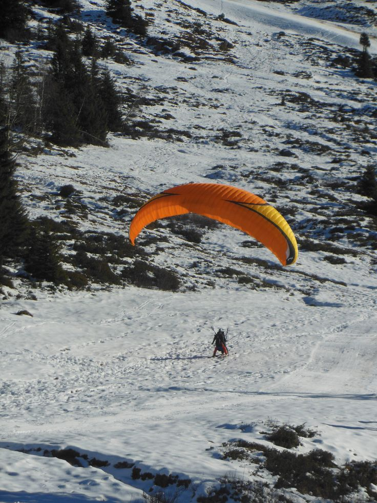 Atterrissage à ski au Super Collet à Allevard