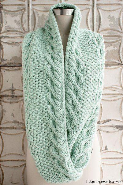 Ideas para el hogar: Bufandas infinitas en dos agujas