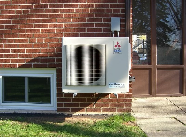 mitsubishi ductless heating and cooling system outside - Ductless Air System