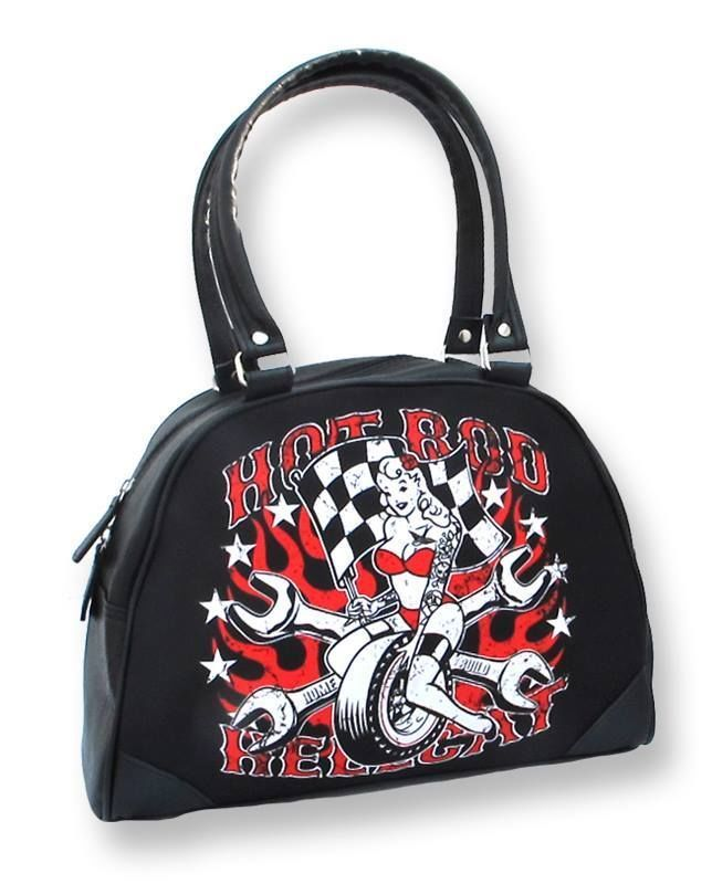 Hotrod Hellcat Tasche/Bowling Bag Fast Chick.Tattoo,Biker,Pin up,Custom Style