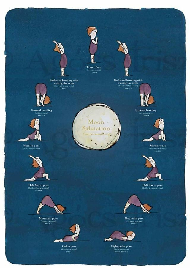 Moon Salutation: perfect for evening yoga, Chandranamaskar is meant to soothe and calm the body.