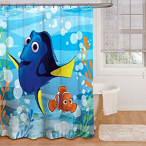 Decorate your child's bathroom in style with the Finding Dory Adoryble Bath Shower Curtain. Featuring Dory, the lovable blue tang from the beloved film Finding Dory, ready to add fun to your child's bathroom and put a smile on their face.